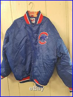 1980's Vintage Chicago Cubs Starter Jacket Coat Size XL MLB Diamond Collection
