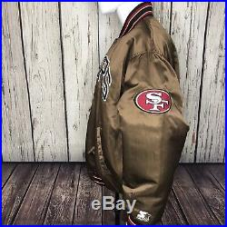 AUTHENTIC SAN FRANCISCO 49ERS VINTAGE GAME DAY Starter JACKET XL FREE SHIPPING