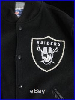 Authentic 1980's Raiders Starter Leather/Wool Jacket VTG L Los Angeles Oakland