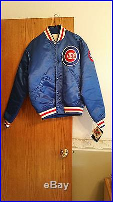 Chicago Cubs Starter Diamond Quilt Lined Jacket New With Tags Vintage 80's