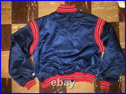 CLEVELAND INDIANS Vtg 80s 90s Diamond Collection STARTER Jacket CHIEF WAHOO Lrg