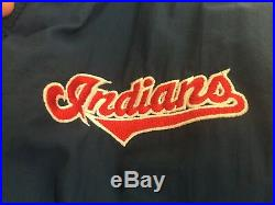 Cleveland Indians Chief Wahoo jacket, parka style, size L, vintage