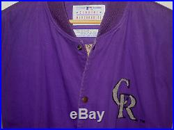 Colorado Rockies Vtg Original Starter Wool Patch Cotton Dugout Jersey Jacket-l