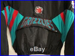 Deadstock Vintage STARTER X NBA VANCOUVER GRIZZLIES Pullover Insulated Jacket XL
