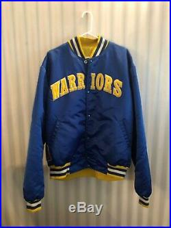 Golden State Warriors Men STARTER Satin Jacket Vintage Varsity Jacket size xxl
