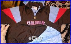 Houston Oilers Starter Pullover Parka Size L! Awesome! Vintage! Well Maintained