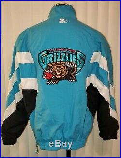 Htf Vintage Starter Pullover Vancouver Grizzlies Nba Jacket Mens Size XL