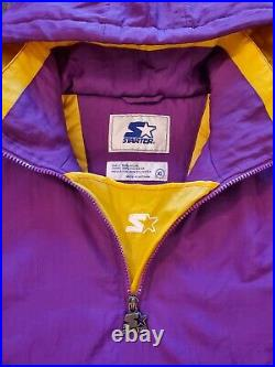 Los Angeles Lakers NBA Champions Starter Jacket Size XL Vintage Pullover EUC