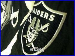 Los Angeles Raiders Starter Jacket Vtg 80's 90's Hooded Quilted Mens Sz L EUC