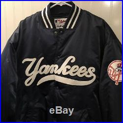 MINT Vintage 90s Majestic New York Yankees Insulated Satin Jacket 2XL Starter