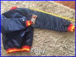 NWT Houston ASTROS Vintage 1980's Deadstock MLB Dugout Jacket by STARTER sz. L