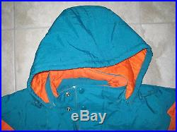 NWT Vintage NFL STARTER PRO LINE MIAMI DOLPHINS Pullover Puffy Jacket Coat XL
