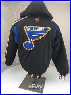 NWT Vtg NHL St. Louis Blues Spell Out Starter Jacket Big Logo HOCKEY Large L