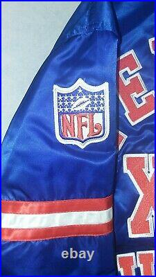 Nwt Vintage Buffalo Bills XXV Superbowl Champs Satin Starter Jacket Mens Sz M