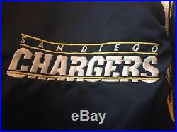 RARE Vintage MINT San Diego Chargers Starter Satin Jacket Throwback LARGE