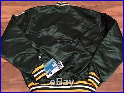 Rare 80's Vintage NWT Deadstock Green Bay Packers Satin Starter Jacket Size XL