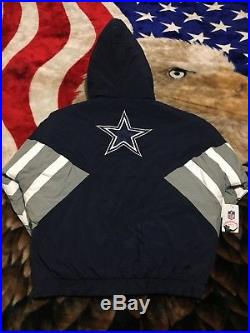 Rare NWT Sold Out Mitchell & Ness Dallas Cowboys Pullover Jacket L Vtg Starter