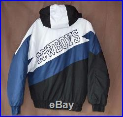 huge discount b9148 eb5dc Rare Vintage 90s Game Day NFL Dallas Cowboy Hooded Winter ...