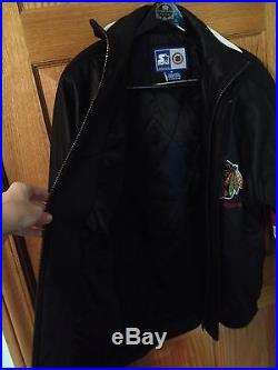 Rare Vintage Chicago Blackhawks 100% Leather Starter in Excellent Condition
