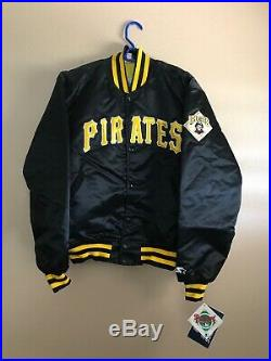 Rare Vintage Starter Pittsburgh Pirates Satin Bomber Jacket New with Tags Sz L