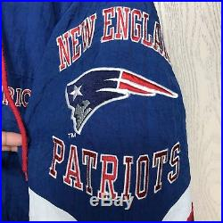 promo code c327f 1c8fa Starter Vintage New England Patriots NFL Puffer Hooded ...
