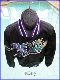 Tampa Bay Devil Rays VTG Throwback Diamond Collection STARTER Satin XL Jacket