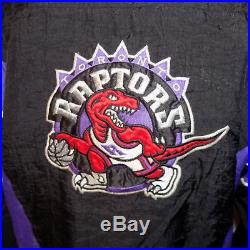 Toronto Raptors Starter Jacket (Youth Large) Vintage 90's NBA Puffy Parka Coat