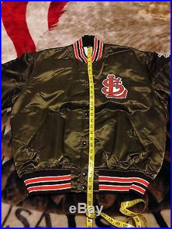VTG 80s Starter St Louis Browns Cooperstown Collection Cardinals Satin Jacket XL