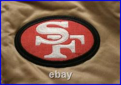 VTG Auth PROLINE by STARTER San Francisco 49ers Gold/Red Satin Jacket USA Sz XL