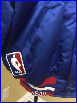 VTG Detroit Pistons Starter Satin NBA Jacket Made in USA Size XL EUC! Insulated