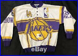 VTG Rare Los Angeles Lakers World Champions Starter Jacket Size Mens Large