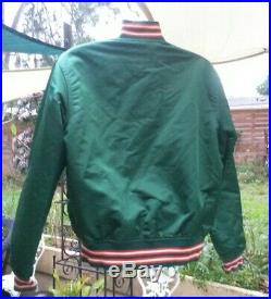Very Rare Vintage Miami Hurricanes Satin Starter Jacket Size Large Great Cond