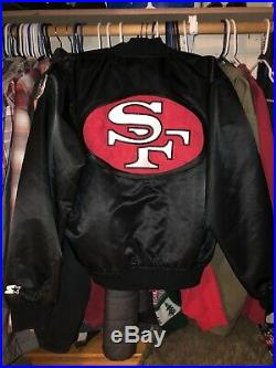 Vintage 1980's San Francisco 49ers Nylon Satin Forty Niners Stater Jacket XL