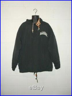 Vintage 80s 90s Starter Arch Los Angeles Raiders Winter Jacket Coat Parka XL