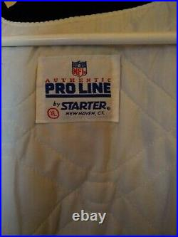 Vintage 80s Authentic Raiders NFL Pro Line By Starter Jacket Size XL Made In USA