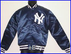 Vintage 80s New York YANKEES STARTER Jacket SATIN Back Patch NWT NEW Old Stock