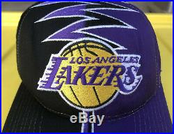 Vintage 90s Los Angeles Lakers Starter Darkside DS Shockwave Slasher Hat Cap NBA
