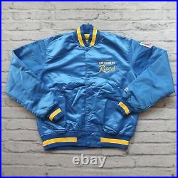 Vintage 90s Los Angeles Rams Satin Jacket by Starter Size M
