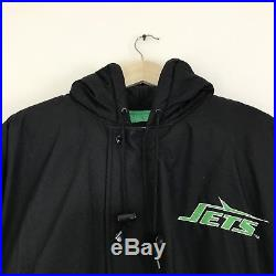 Vintage 90s New York Jets Starter Puffy Jacket Large Super Bowl Fall Down Winter