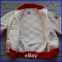 Vintage 90s San Francisco 49ers Satin Jacket by Starter Size XL Made in USA