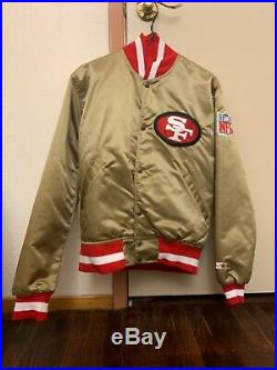 Vintage 90s San Francisco 49ers Satin Jacket by Starter mens size small