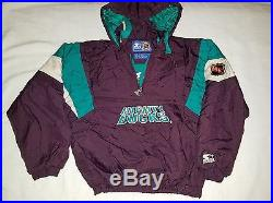 Vintage 90s Starter Mighty Ducks NHL pullover jacket sz Small