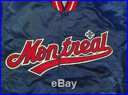 Vintage Authentic Diamond Collection STARTER MONTREAL EXPOS Snap Up Jacket Large