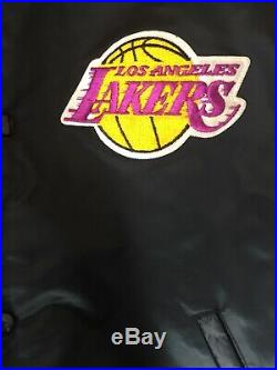 Vintage Black Los Angeles Lakers LA Starters Jacket Mens XL RARE Lebron