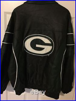 outlet store 7464f 8e8a9 Vintage GREEN BAY PACKERS Leather Jacket by Starter NFL PRO ...