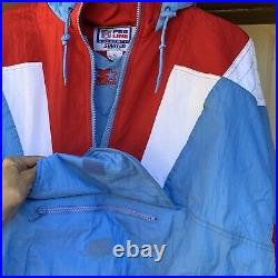 Vintage Houston Oilers Starter Pro Line Jacket XL Luv Ya Blue Thick Puffy