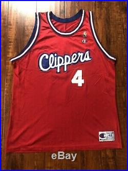 Vintage Los Angeles Clippers Jersey Champion Starter Jacket Satin Ron Harper