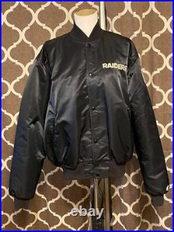 Vintage Los Angeles Raiders Pro Line Starter Button Up Jacket USA Made Size XL