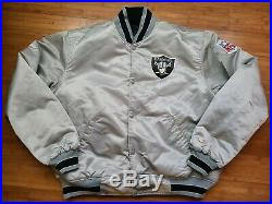 Vintage Mens Starter Raiders Reversible Satin Jacket Size XL