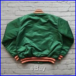 Vintage Miami Hurricanes Satin Jacket by Starter Size XL 90s Made in USA